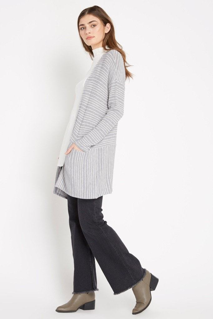 Poshsquare Tops Casualty Stripe Cardigan Sweater