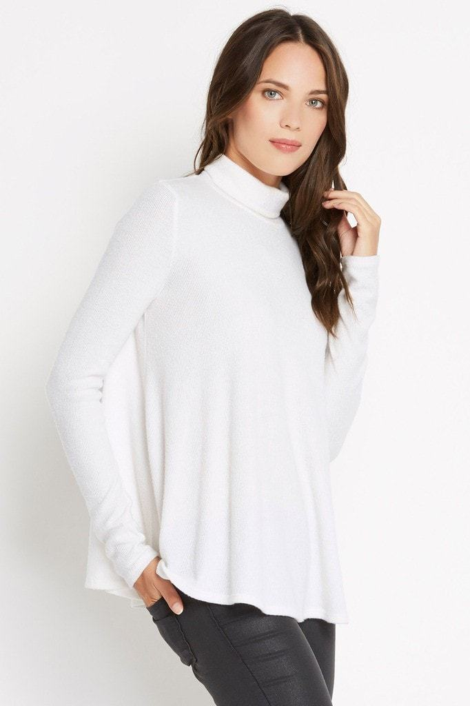 Poshsquare Tops Cozy Time Ribbed Knit Turtleneck Sweater
