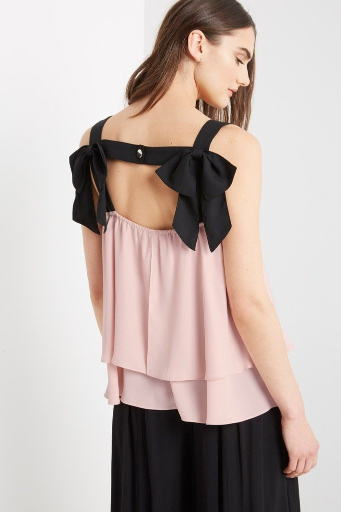 Poshsquare Tops Isabelle Chiffon Bow Back Top