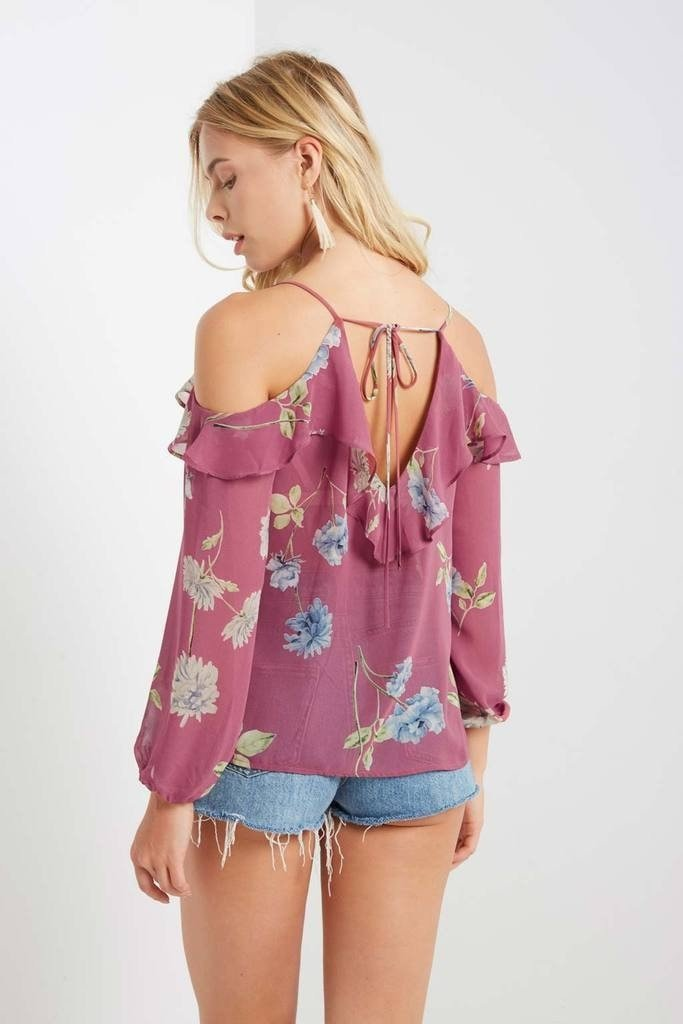 Poshsquare Tops Jamie Floral Cold Shoulder Top