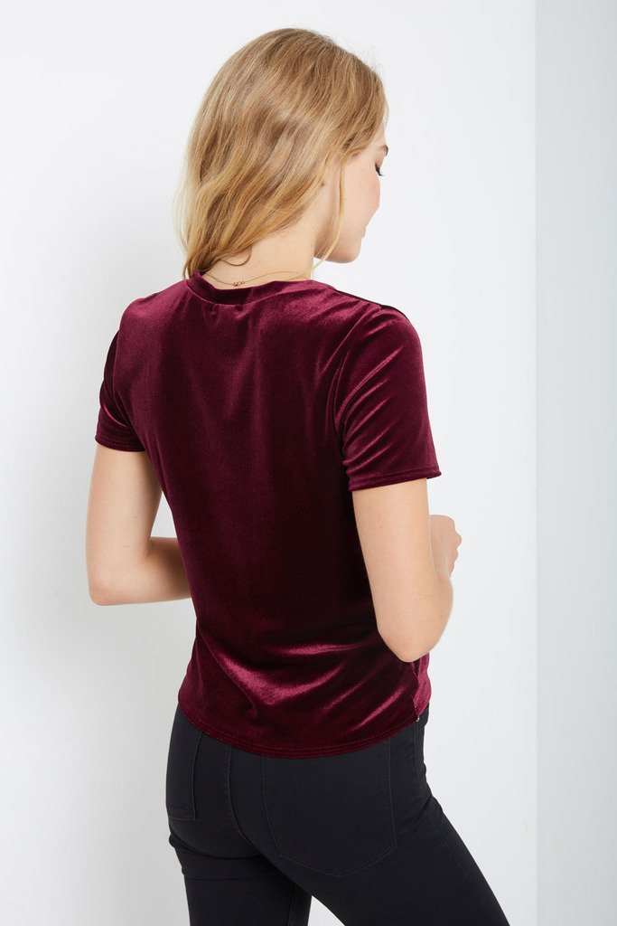 Poshsquare Tops Kenli Velvet Twist Front Top