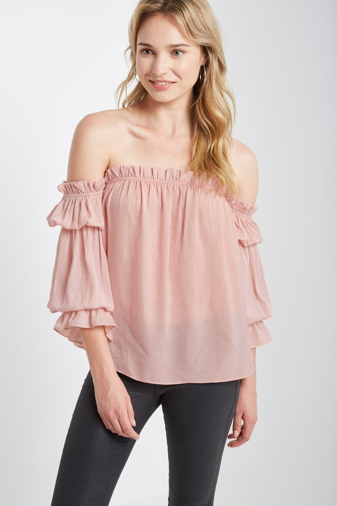 Poshsquare Tops Prowl Off the Shoulder Top