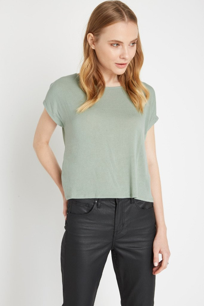 Poshsquare Tops S / Army Green Forget Me Knot Tee