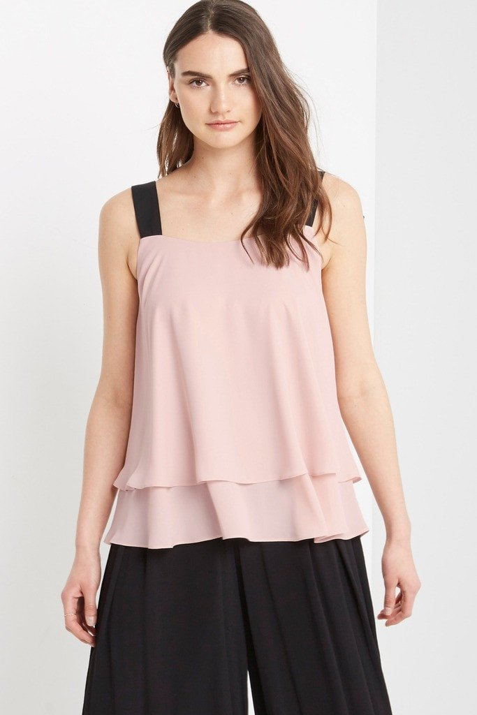 Poshsquare Tops S / Blush Isabelle Chiffon Bow Back Top