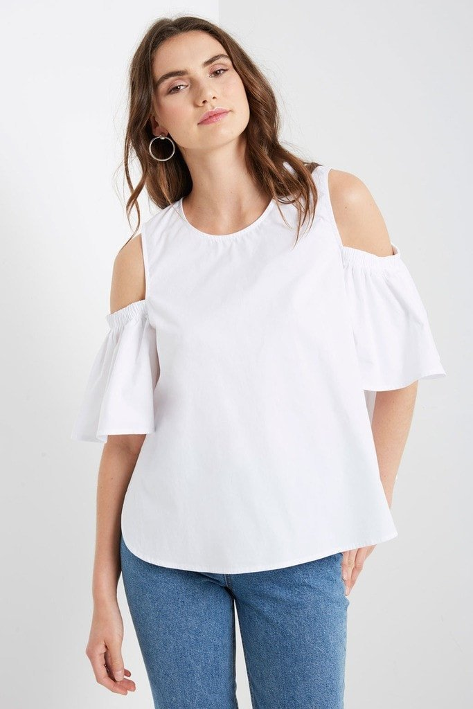 Poshsquare Tops Serentine Cold Shoulder Top