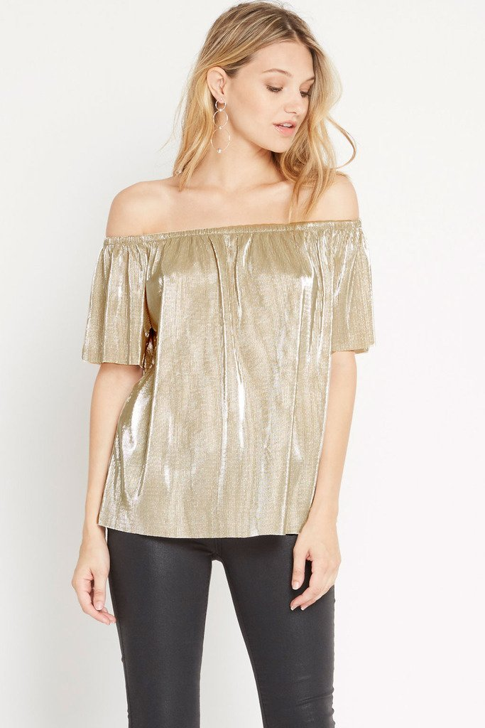 Poshsquare Tops XS / Champagne Night N' Day Top