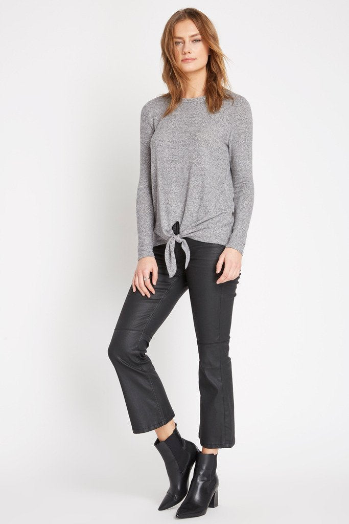 Poshsquare Tops Ellian Heathered Sweater Top