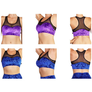Bish Royale Velvet Heart Breaker Sports Bra- Various Colors
