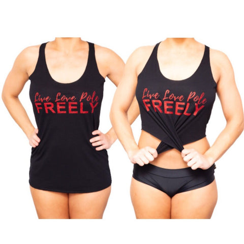 Live Love Pole Freely Racerback