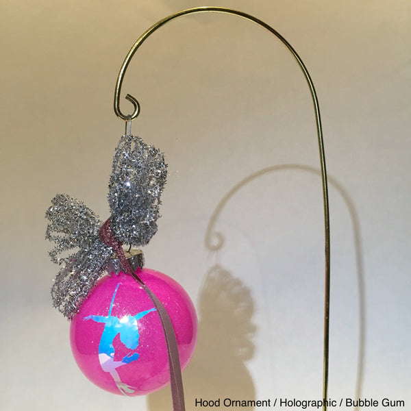 Sparkly Pole Dancer Christmas Ornaments