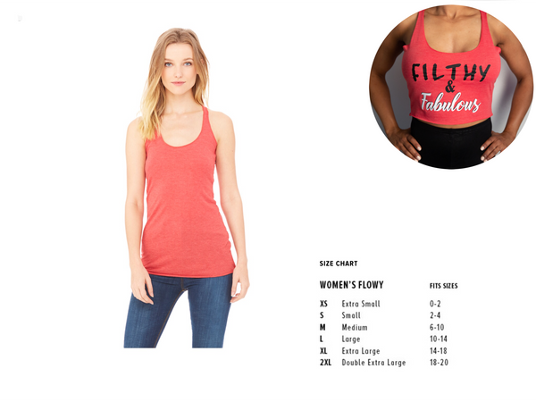 Filthy & Fabulous Cropped Racerback