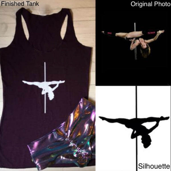 Custom one-of-a-kind silhouette tanks
