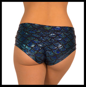 Sonic Siren Metallic Hot Pants- Turquoise