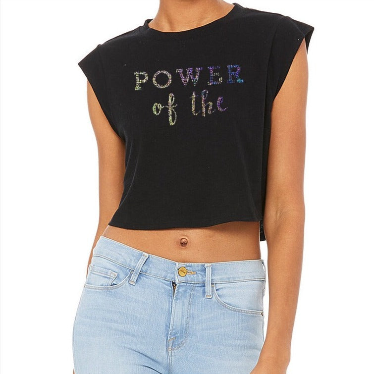 Power of the 🐱 Cropped Tank