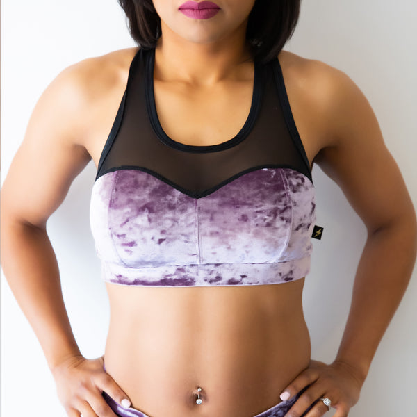 Delish Velvet Heart Breaker Sports Bra- Various Colors