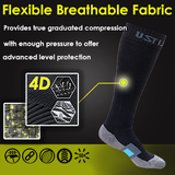 BLITZU Air Travel Compression Socks 20-30mmHg for Men & Women Best Recovery Performance Stockings for Medical Athletic Edema Diabetic Varicose Veins Pregnancy Relief Shin Splints