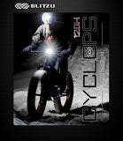 120H USB Rechargeable Bike Headlight - Blitzu - 7