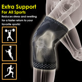 BLITZU MAX Compression Knee Brace for Joint Pain, ACL MCL Arthritis Relief Improve Circulation Support for Running Gym Workout Recovery Best Sleeves Patella Stabilizer Pad