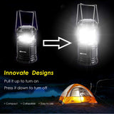 BLITZU 2 PACK Brightest LED Camping Lantern with Magnetic Base and Hanging Hook, Portable, Collapsible, Battery Powered - Best Outdoor Indoor Hiking Hurricane Storm Outage Emergency Light, Tent Lamp