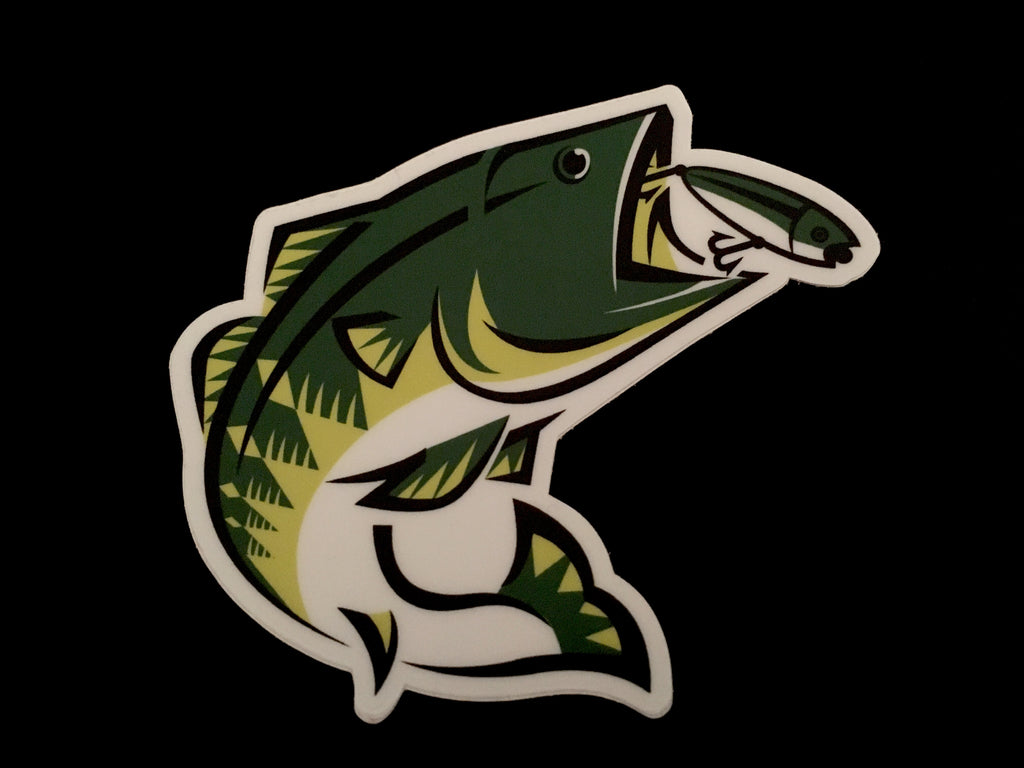 Lunkerbrag largemouth decal 3""