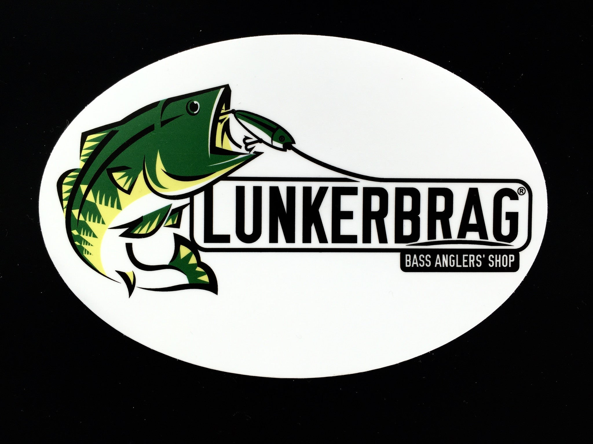 "Lunkerbrag decal 6"" oval"
