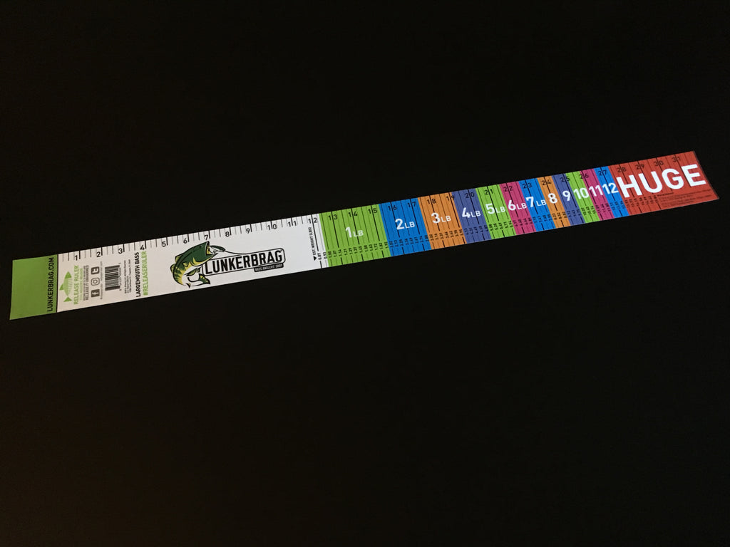 Largemouth Bass Release Ruler Decal