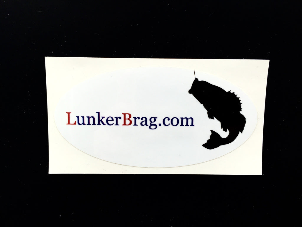 "Lunkerbrag decal 4"" oval - retro"