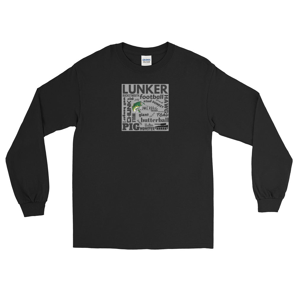Largemouth Lingo Long Sleeve T Shirt Black