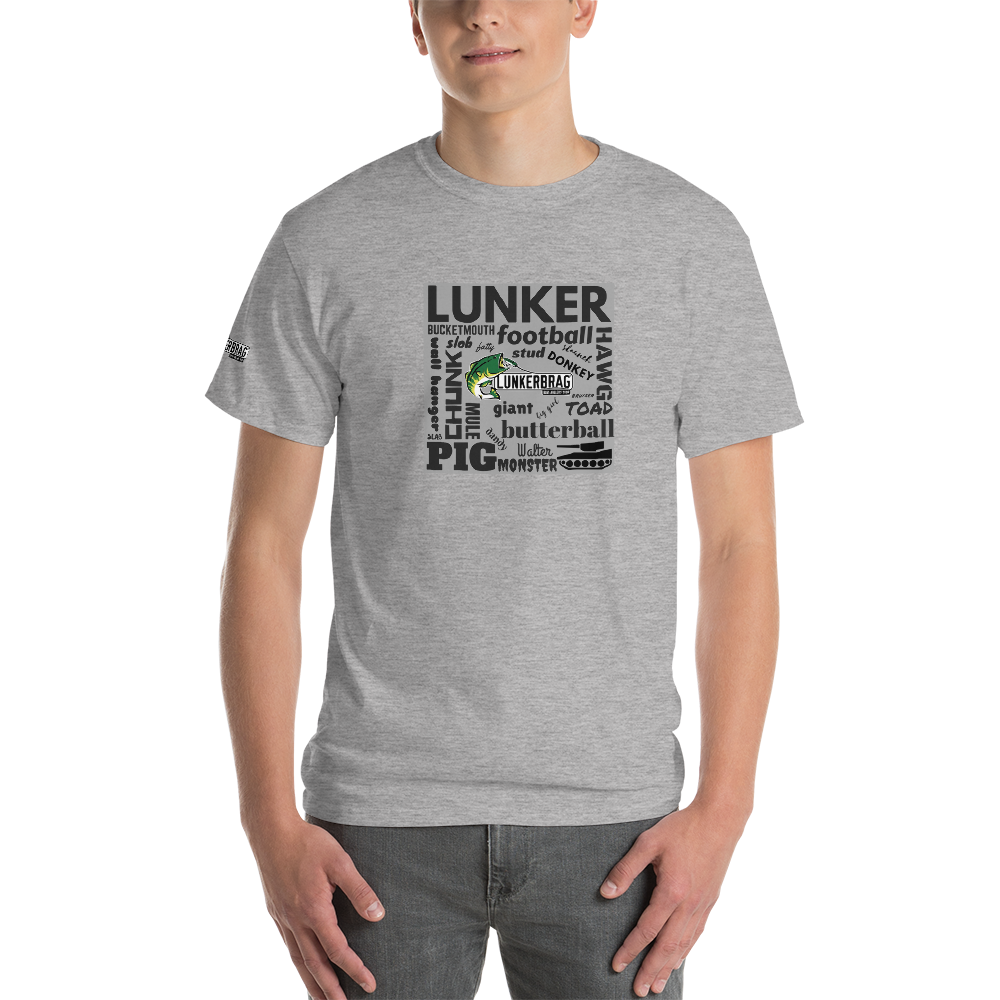 Largemouth Lingo Short Sleeve T-Shirt Gray