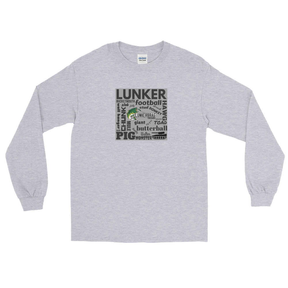 Largemouth Lingo Long Sleeve T-Shirt Gray