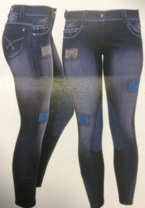 CAVALLINO Washed denim breeches