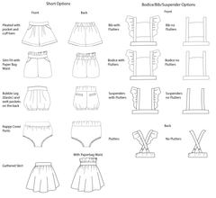 Baby Sweet Pea Shortsuit/Dress PDF Sewing Pattern - Moocuzzi