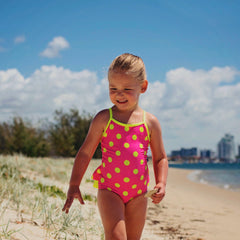 Pina Colada Ruffled One Piece Swimmers - Moocuzzi