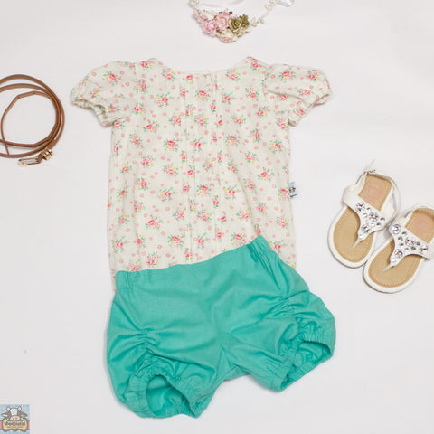 Puckered Bloomers - Mint - Moocuzzi
