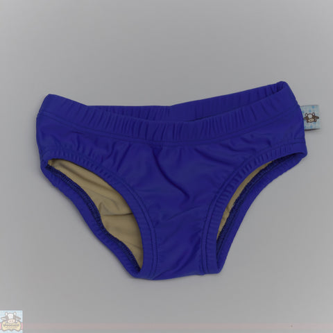 Boys Royal Blue Swim Briefs - Moocuzzi