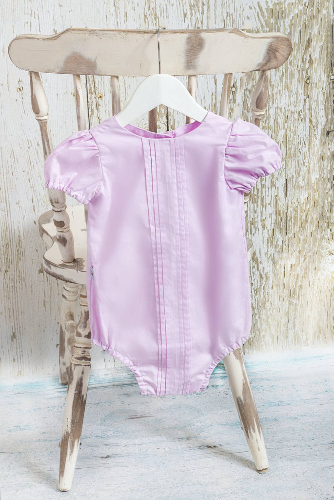 Violet Pleated Romper - Moocuzzi