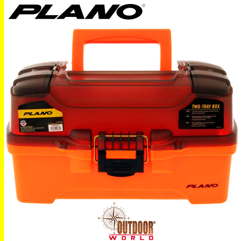 #PLAMT6221 2 TRAY TRANS SMOKE-ORANGE