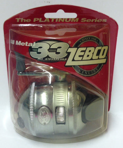 Zebco #zs1754 All Metal 33 Platinum SpinCast Reel