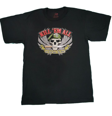 Rothco Camisa con Estampado  Kill Em All