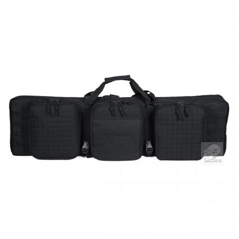 Deluxe, Lockable 42-inch MOLLE Soft Rifle Case, Padded Weapons Bag - Black