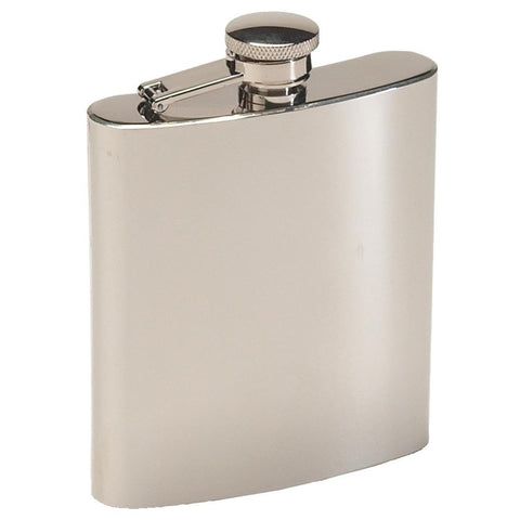 #13405 Texsport Stainless Steel Tailgater Hip Flask 8oz