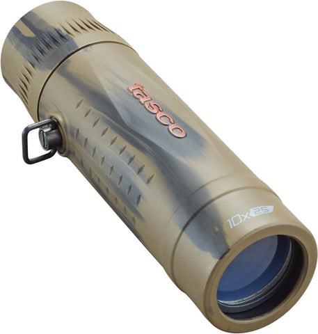Tasco #568125B Essentials Roof MC Box Monocular 10 x 25mm Brown Camo