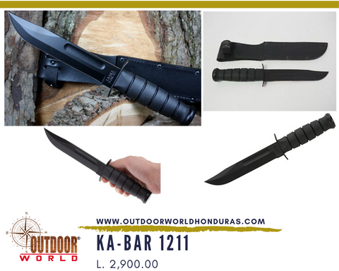 KA-BAR 1211 Blk Fighting Cuchillo con vaina