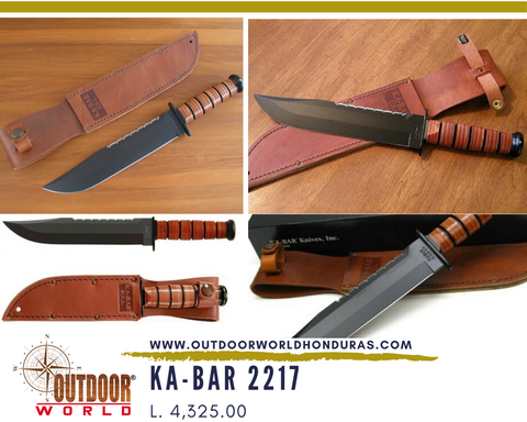 KA-BAR 2217 Big Brother Knife with Leather Handle
