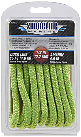 Shoreline Marine #SL91637 Double Braid Polyester Dock Line