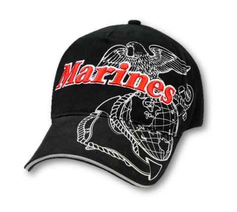 #9794 Rothco Deluxe Marines G&A Low Profile Insignia Cap