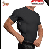 4014-BLK-2X / MENS CONCEALED CARRY COOLUX MESH CREW NECK TEE