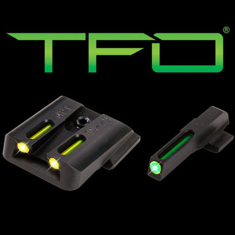 TRUGLO TFO™ TRITIUM/FIBER-OPTIC SIGHTS (GREE FRONT/ YELLOW REAR) SIG SAUER