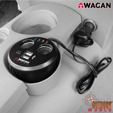 #2537-5 Twin USB Sockets Cupholder Adapter
