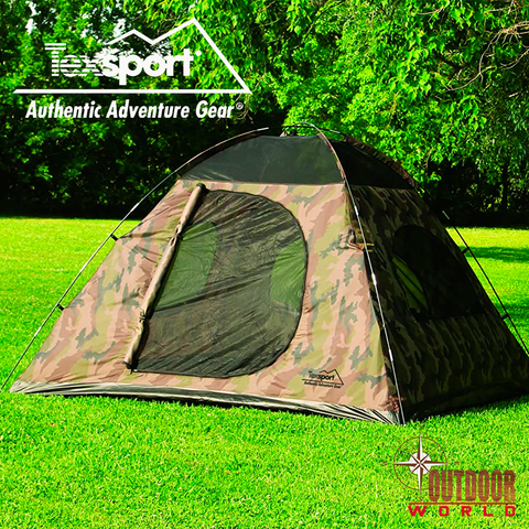 #01333 Headquarters Camouflage Square Dome Tent